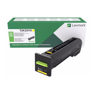 Lexmark 72K20Y0 Yellow Return Programme Toner Cartridge (8,000 Pages)