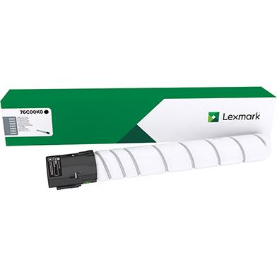 Lexmark 76C00K0 Black Toner Cartridge (18,500 Pages)