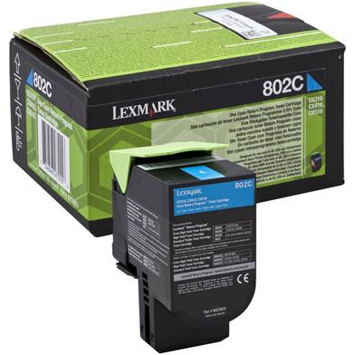 Lexmark 80C20C0 802C Cyan RP Toner Cartridge (1,000 Pages)