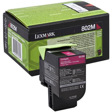 Lexmark 80C20M0 802M Magenta RP Toner Cartridge (1,000 Pages)
