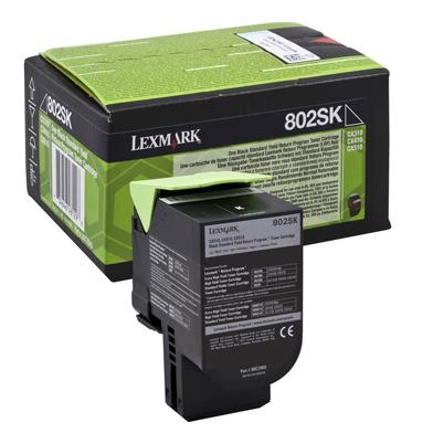 Lexmark 80C2SK0 802SK Black Standard RP Toner Cartridge (2,500 Pages)