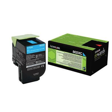 Lexmark 80C2XC0 802XC Cyan Extra High Capacity RP Toner Cartridge (4,000 Pages)