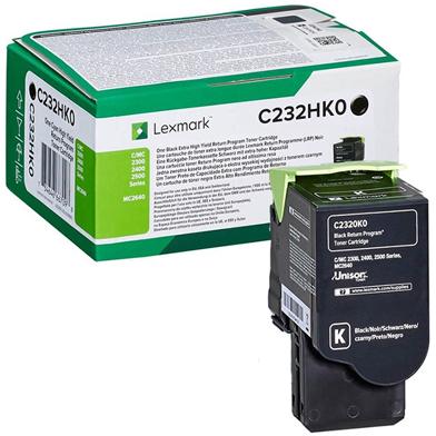 Lexmark C232HK0 Black High Yield Return Programme Toner Cartridge (3,000 Pages)