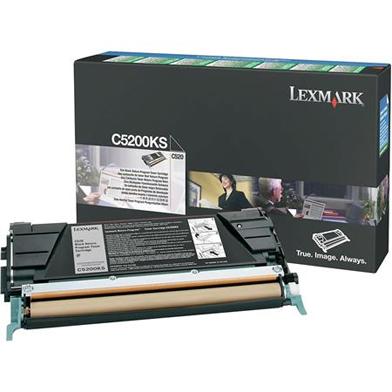 Lexmark C5200KS C5200KS Black Return Programme Toner Cartridge (1,500 Pages)
