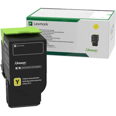Lexmark 78C20Y0 Yellow Return Programme Toner Cartridge (1,400 Pages)
