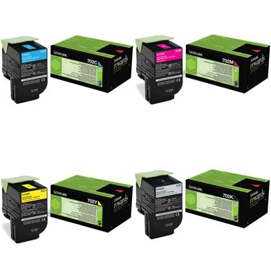 Lexmark  702 Toner Value Pack CMYK (1k)
