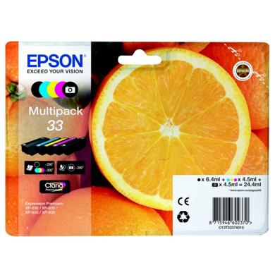Epson 5 Colour Multipack No.33 Claria Premium Ink