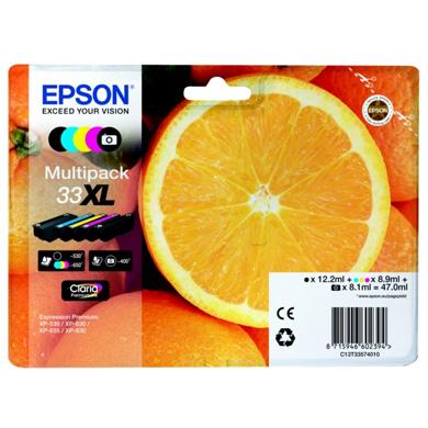 Epson 5 Colour Multipack No.33XL Claria Premium Ink
