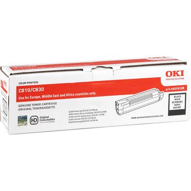 OKI 44059108 Black Toner Cartridge (8,000 Pages)