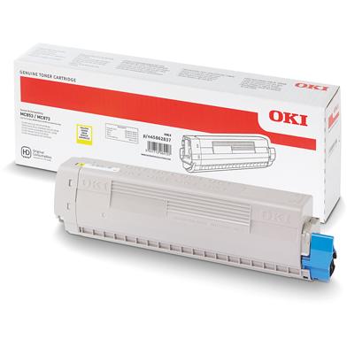 OKI Yellow Toner Cartridge (7,300 Pages)