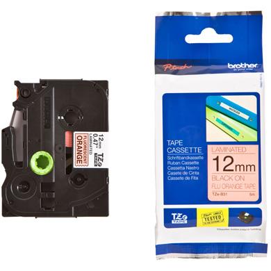 Brother TZe-B31 12mm Labelling Tape (BLACK ON ORANGE)