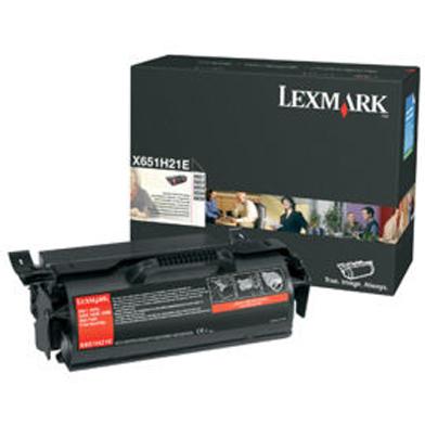 Lexmark X651H21E High Capacity Black Toner Cartridge (25,000 Pages)