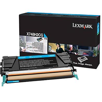Lexmark X748H2CG High Capacity Cyan Toner Cartridge (7,000 Pages)