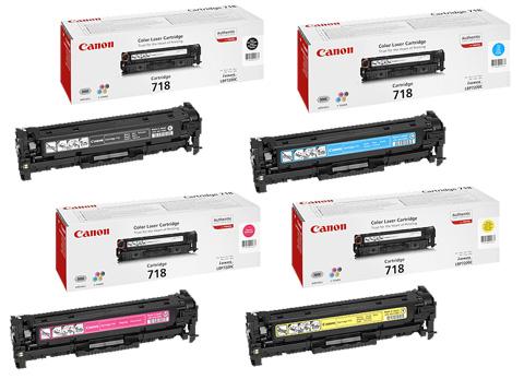 Canon 718 Toner Rainbow Pack CMY(2.9k) K(3.4k)