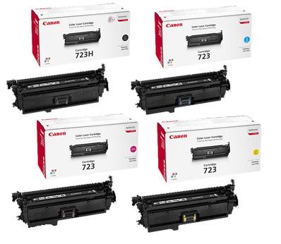 Canon 723 Hi-Cap Toner Rainbow Pack CMY (8.5K) + Black (10K)