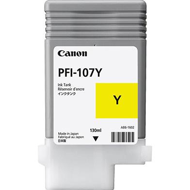 Canon PFI-107Y Yellow Ink Cartridge (130ml)