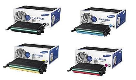 Samsung CLP-660B Toner Rainbow Pack CMY (5k) + Black (5.5k)