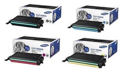 Samsung CLP-660A Toner Rainbow Pack CMY (2k) + Black (2.5k)