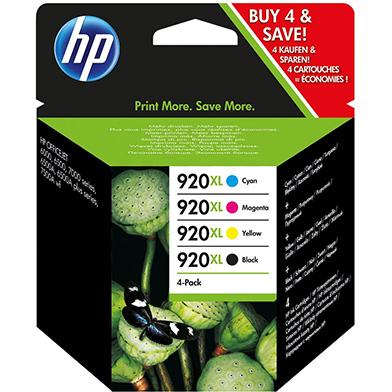 HP C2N92AE 920XL 4 Pack High Yield Ink Cartridges