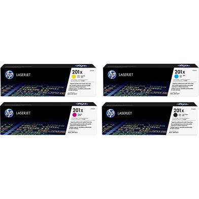 HP 201XTONERPACK 201X Hi Cap Rainbow Toner Pack K(2.8k) CMY(2.3k)