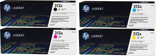 HP Toner Rainbow Pack CMY(2.7k) K(4.4k)