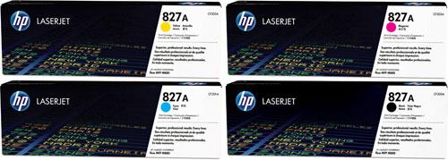 HP 827A Toner Rainbow Pack CMY(32k) K(29.5k)