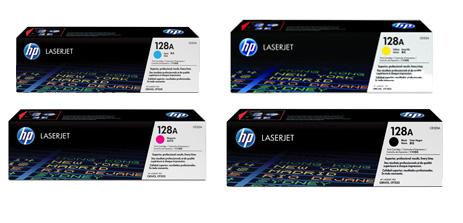 HP 128A Toner Rainbow Pack CMY(1.3k) K(2k)