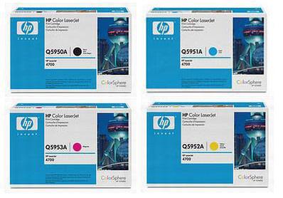 HP Toner Rainbow Pack CMY (10k) + Black (11k)