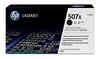 HP 507X Hi-Cap Black Toner Cartridge (11,000 pages)