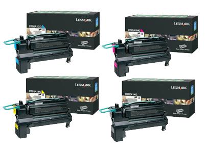 Lexmark X792X1 Hi-Cap Toner Rainbow Pack CMYK (20K)