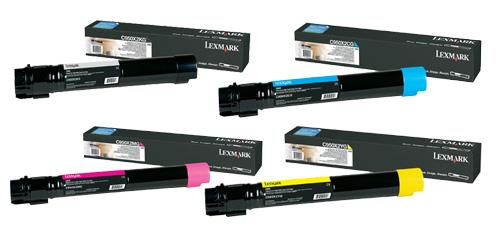 Lexmark Hi-Cap Toner Rainbow Pack CMY (24K) + Black (38K)