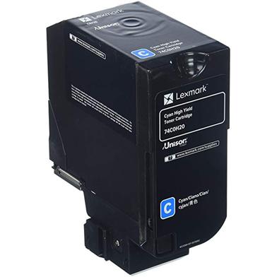 Lexmark 74C0H20 Cyan High Yield Toner Cartridge (12,000 Pages)
