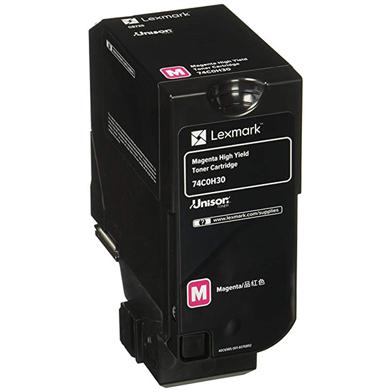 Lexmark 74C0H30 High Yield Magenta Toner Cartridge (12,000 Pages)
