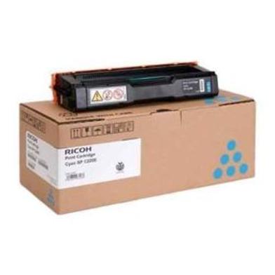 Ricoh 406097 Type SPC220E Cyan Toner Cartridge (2,000 Pages)