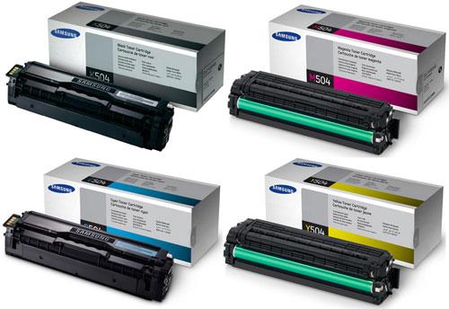 Samsung 504 Toner Value Pack CMY (1,800) + K (2,500)