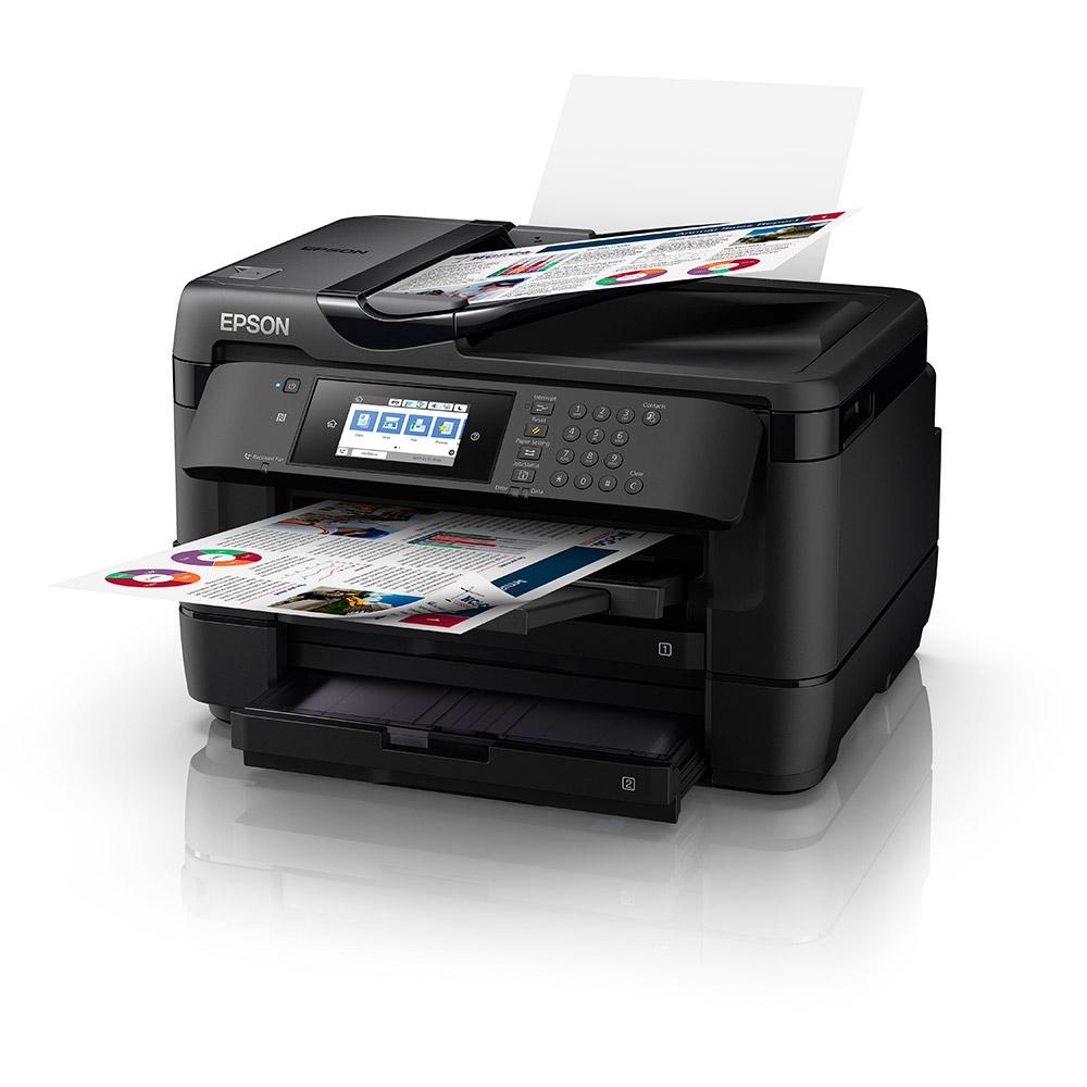 Epson Workforce Wf 7720dtwf A3 Colour Multifunction Inkjet Printer Install Wireless Diagram